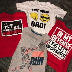 Other - Boys size 4/5 graphic tees, bundle of four